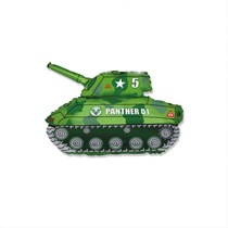 "Green Army Tank 14"" Mini Shape Foil Balloon"