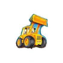 "Yellow JCB Digger 14"" Mini Shape Foil Balloon"