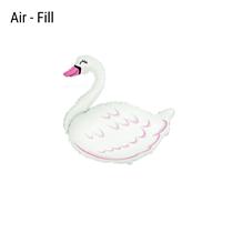 Mini Air Fill Swan Foil Balloon