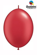"6"" Pearl Ruby Red Quick Link Latex Balloons - 50pk"