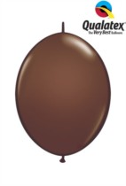 """6"""" Chocolate Brown Quick Link Latex Balloons - 50pk"""