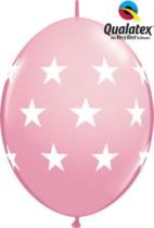 "12"" Big Stars Pink Quick Link Latex Balloons - 50pk"