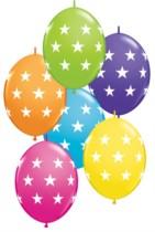 """12"""" Big Stars Tropical Assortment Quick Link Latex Balloons - 50pk"""