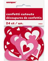 Valentine's Pink & Red Heart Cut Outs 24pk