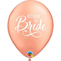 "Rose Gold Team Bride 11"" Hen Party Latex Balloons 25pk"