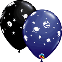 """Space Planets Celestial 11"""" Latex Party Balloons 6pk"""