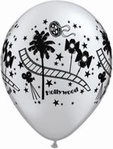 """Silver Hollywood 11"""" Latex Balloons 25pk"""