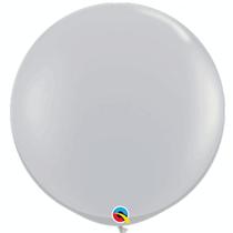 Grey 3ft Latex Balloons 2pk