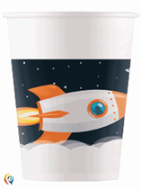 Space Party 200ml Paper Cups 8pk