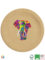 Wildlife Rainbow Elephant 23cm Paper Plates 8pk