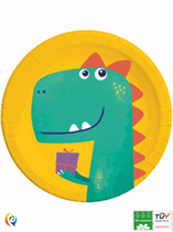 Dinosaur Birthday 23cm Paper Plates 8pk