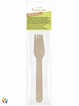 Wooden Cutlery 15.5cm Forks 8pk