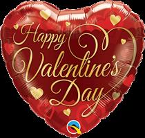 """Valentine's Day Classic Script 18"""" Heart Foil Balloon"""