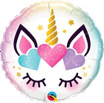 """Unicorn With Eyelashes 18"""" Foil Balloon"""