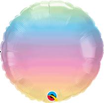 """Pastel Ombre 18"""" Foil Balloon (Pkgd)"""