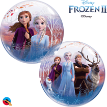"Disney Frozen 2 Elsa Anna 22"" Bubble Balloon"