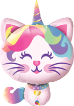 "Mythical Caticorn 38"" Foil Balloon"