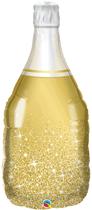 "Golden Bubbly Wine Bottle 39"" Foil Balloon"