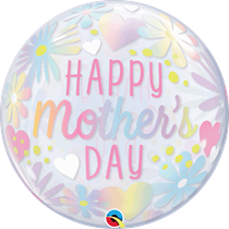 """Pastel Floral Mother's Day 22"""" Bubble Balloon"""