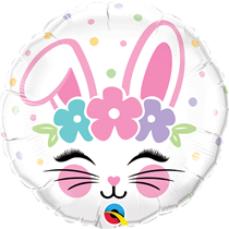 "Easter Bunny Face 18"" Foil Balloon"