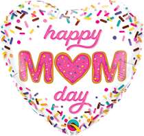 "Happy Mum Day Sprinkles 18"" Heart Foil Balloon"