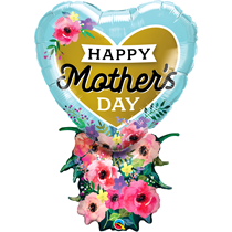 "Mother's Day 34"" Heart Bouquet Foil Balloon"