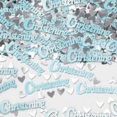 Blue Metallic Christening Confetti