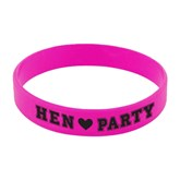 6 Hen Party Pink Rubber Bands