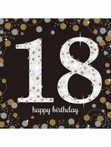 18th Birthday Gold Celebration Luncheon Napkins 16pk