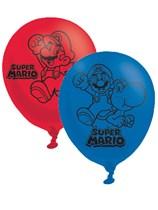 "Super Mario 11"" Latex Balloons 6pk"