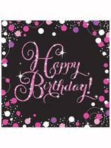 Happy Birthday Pink Celebration Luncheon Napkins 16pk