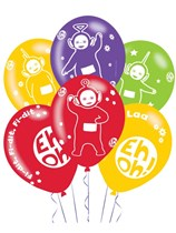 "Teletubbies Printed 11"" Latex Balloons 6pk"