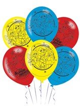 "DC Superhero Girls 11"" Latex Balloons 6pk"