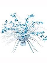 Blue Cross Balloon Weight Centrepiece