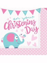 Elephant On Your Christening Day Luncheon Napkins 16pk