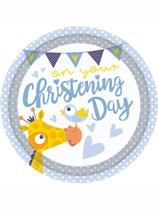 Giraffe On Your Christening Day Plates 8pk