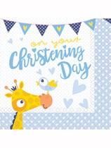 Giraffe On Your Christening Day Luncheon Napkins 16pk