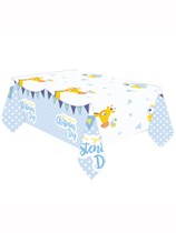 Giraffe On Your Christening Day Plastic Tablecover