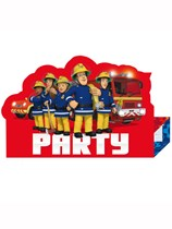 Fireman Sam Party Stand-Up Invitations 8pk