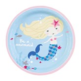 Be A Mermaid 23cm Paper Plates 8pk