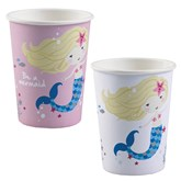 Be A Mermaid Assorted Paper Cups 8pk