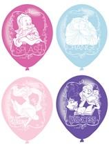"Disney Princess 4 Sided 11"" Latex Balloons 6pk"