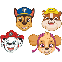 Paw Patrol Paper Masks