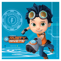 Rusty Rivets Party Lunch Napkins 16pk