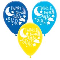 "Baby Twinkle Little Star 11"" Latex Balloons 6pk"