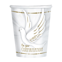 On Your Confirmation Doves Paper Party Cups 8pk