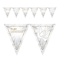 On Your Confirmation Doves Flag Party Banner 4M
