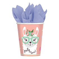 Llama Party Paper Cups 8pk