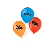 "On The Road Vehicles 11"" Latex Balloons 6pk"