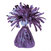 Purple 6oz Foil Tassel Balloon Weight